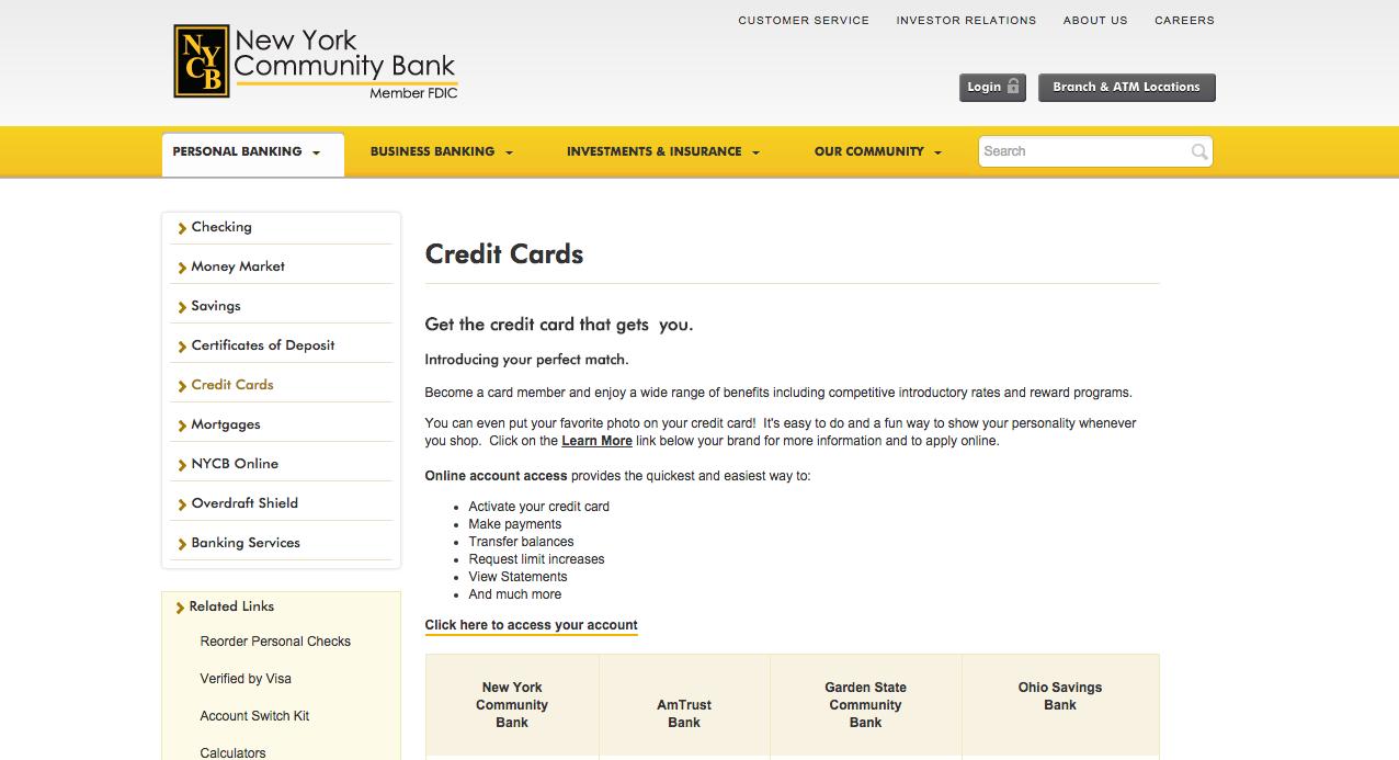 New york community bank platinum visa credit card login make a payment new york community bank login 1 publicscrutiny Image collections