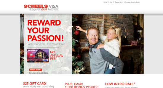 Scheels Visa Credit Card - Apply 1