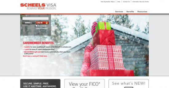 Scheels Visa Credit Card - Login 1