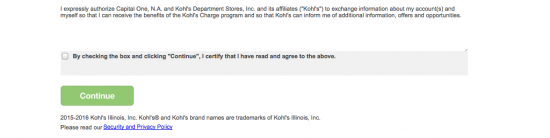 Kohl's Credit Card Application Page 5 Screenshot