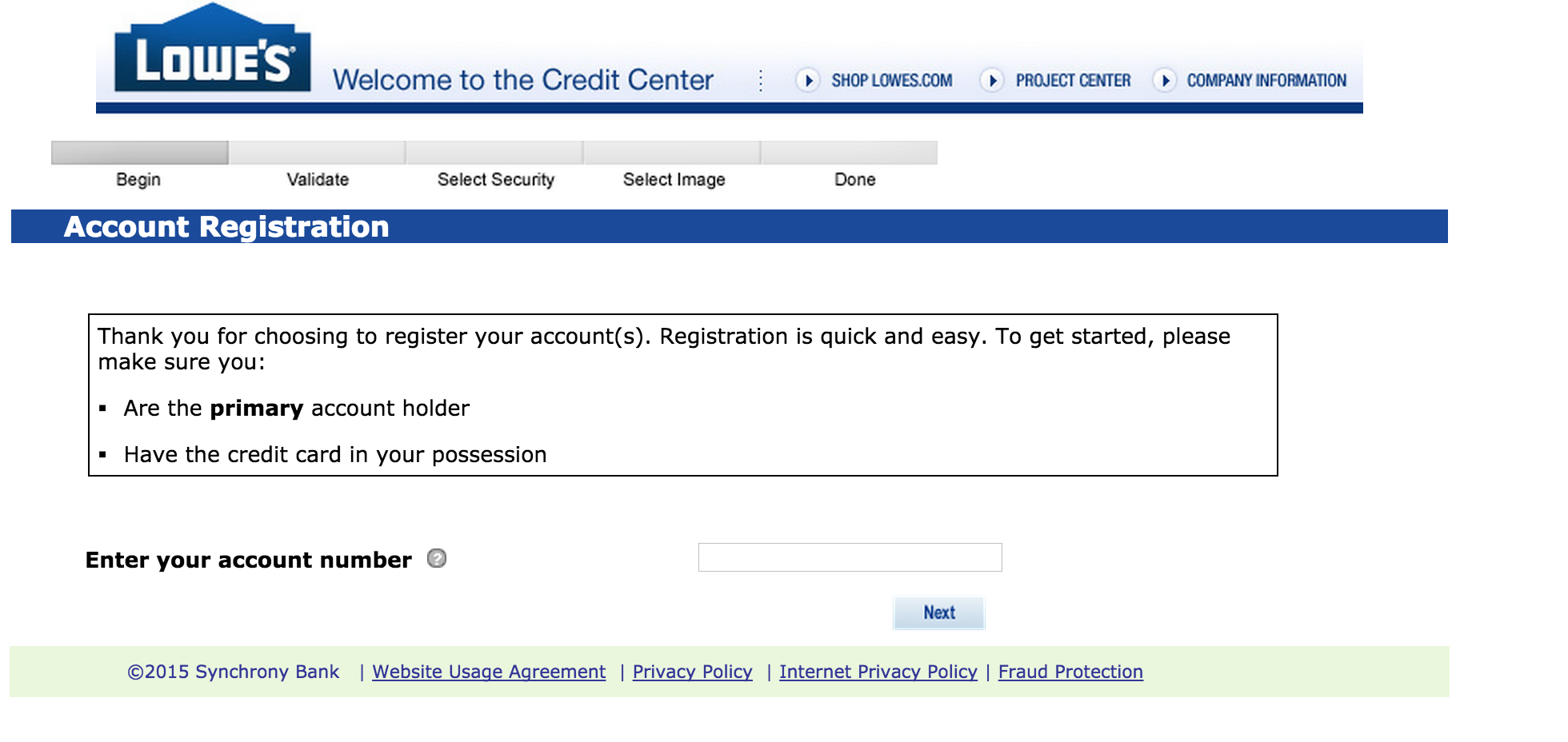 Lowes Credit Card Synchrony Phone Number