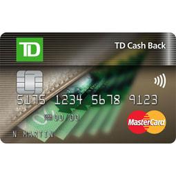 TD Canada Trust Cash Back MasterCard Credit Card