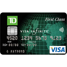TD Canada Trust First Class Travel Infinite Visa Credit Card
