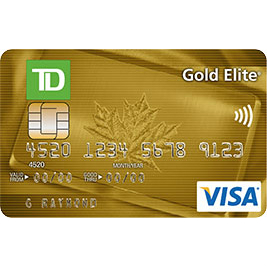 TD Canada Trust Gold Elite Visa Credit Card