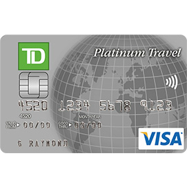 TD Canada Trust Platinum Travel Visa Credit Card