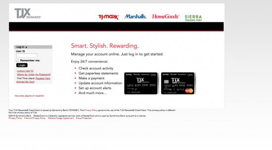 Tj Maxx Credit Card - Login 1