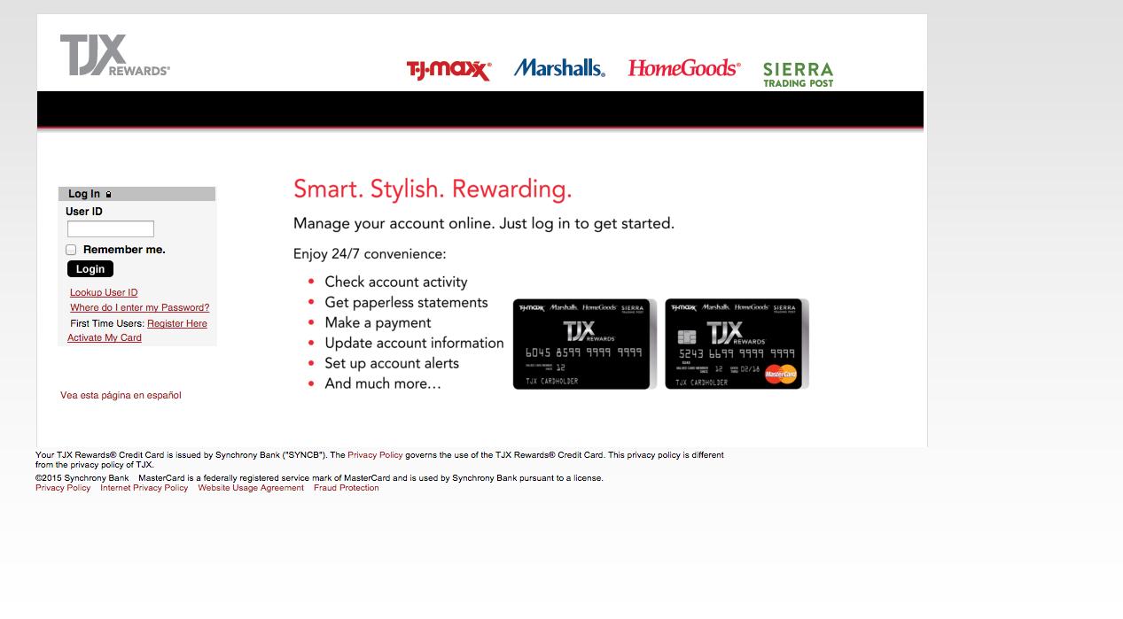 TJ Maxx Credit Card Login   Make a Payment