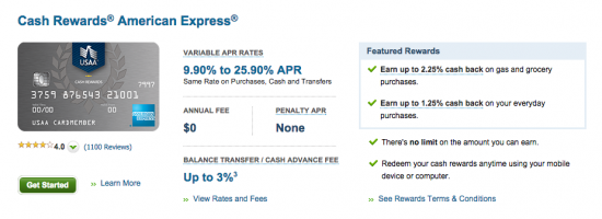 USAA Cash Rewards American Express Credit Card - Apply 3