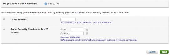 USAA Cash Rewards American Express Credit Card - Login 3