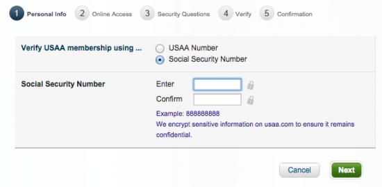 USAA Cash Rewards American Express Credit Card - Login 6