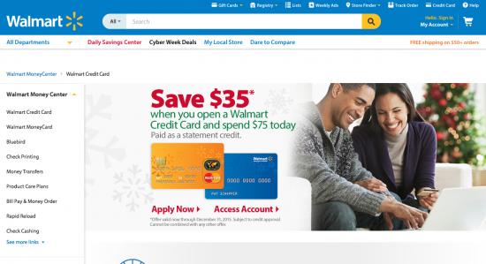 Walmart Credit Card - Apply 2