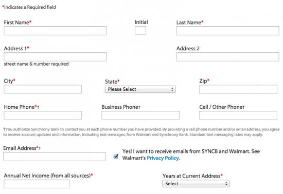 Walmart Credit Card - Apply 3