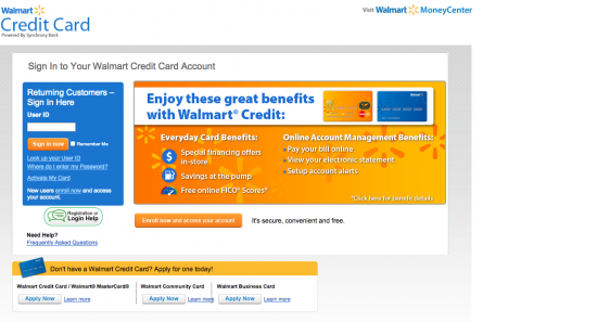 Walmart Credit Card - Login 1