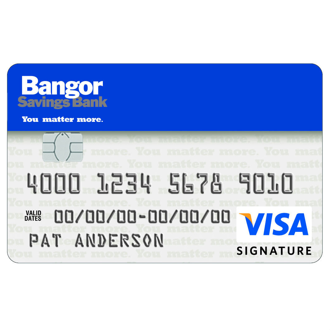 Bangor Savings Bank Visa Business Card