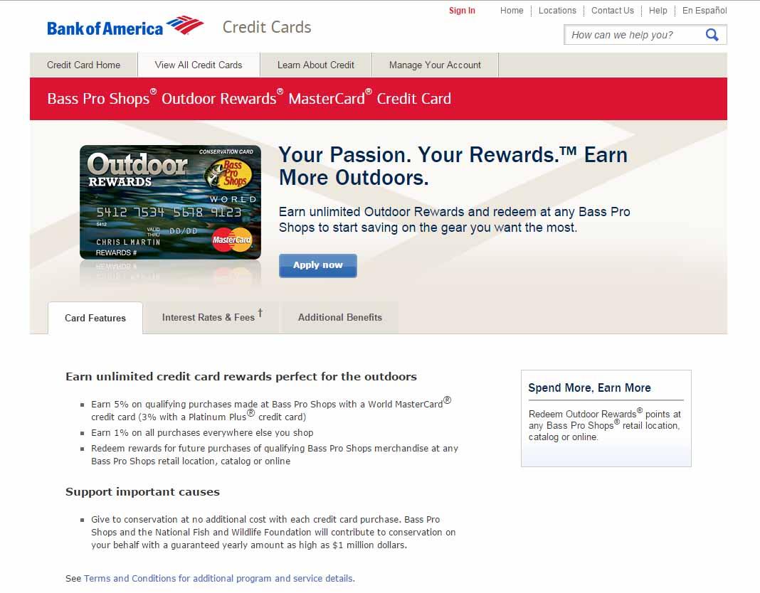 capital one bass pro credit card app