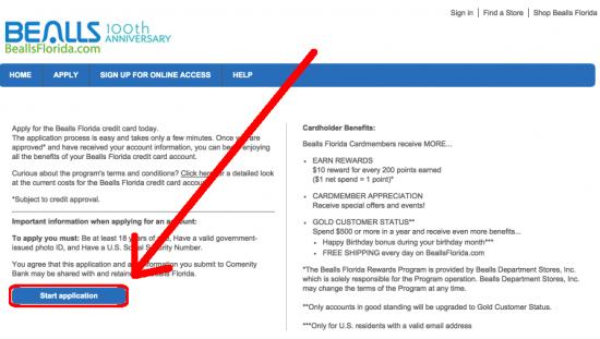 Apply For Bealls Florida Credit Card