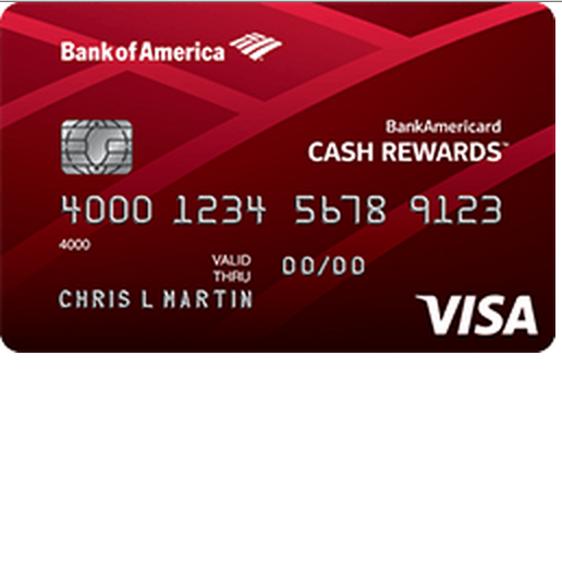 Bank Americard Cash Rewards for Students Visa Credit Card