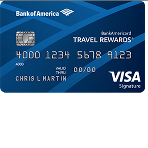 Bank Americard Travel Rewards for Students Visa Credit Card
