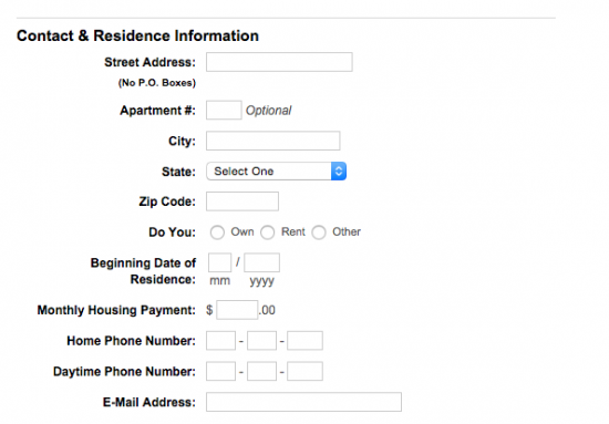 boscov's-credit-card-application-contact-and-residence-information