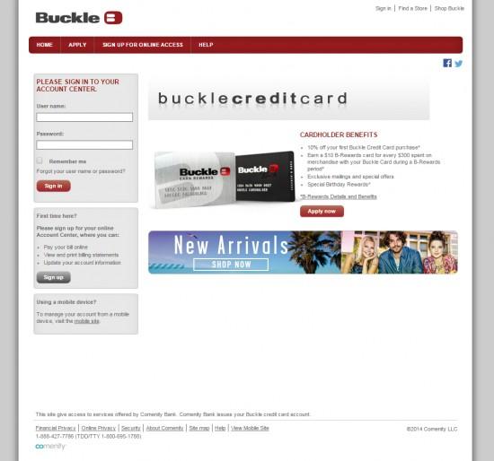buckle login 01
