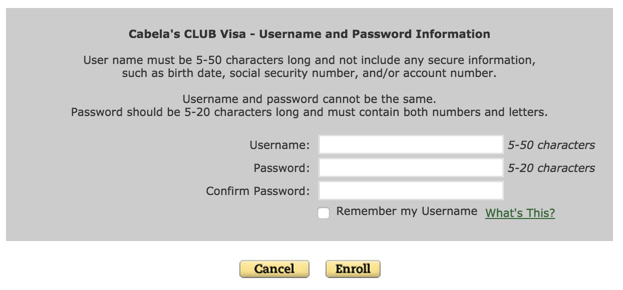 Cabela's Club Visa Credit Card Login | Make a Payment