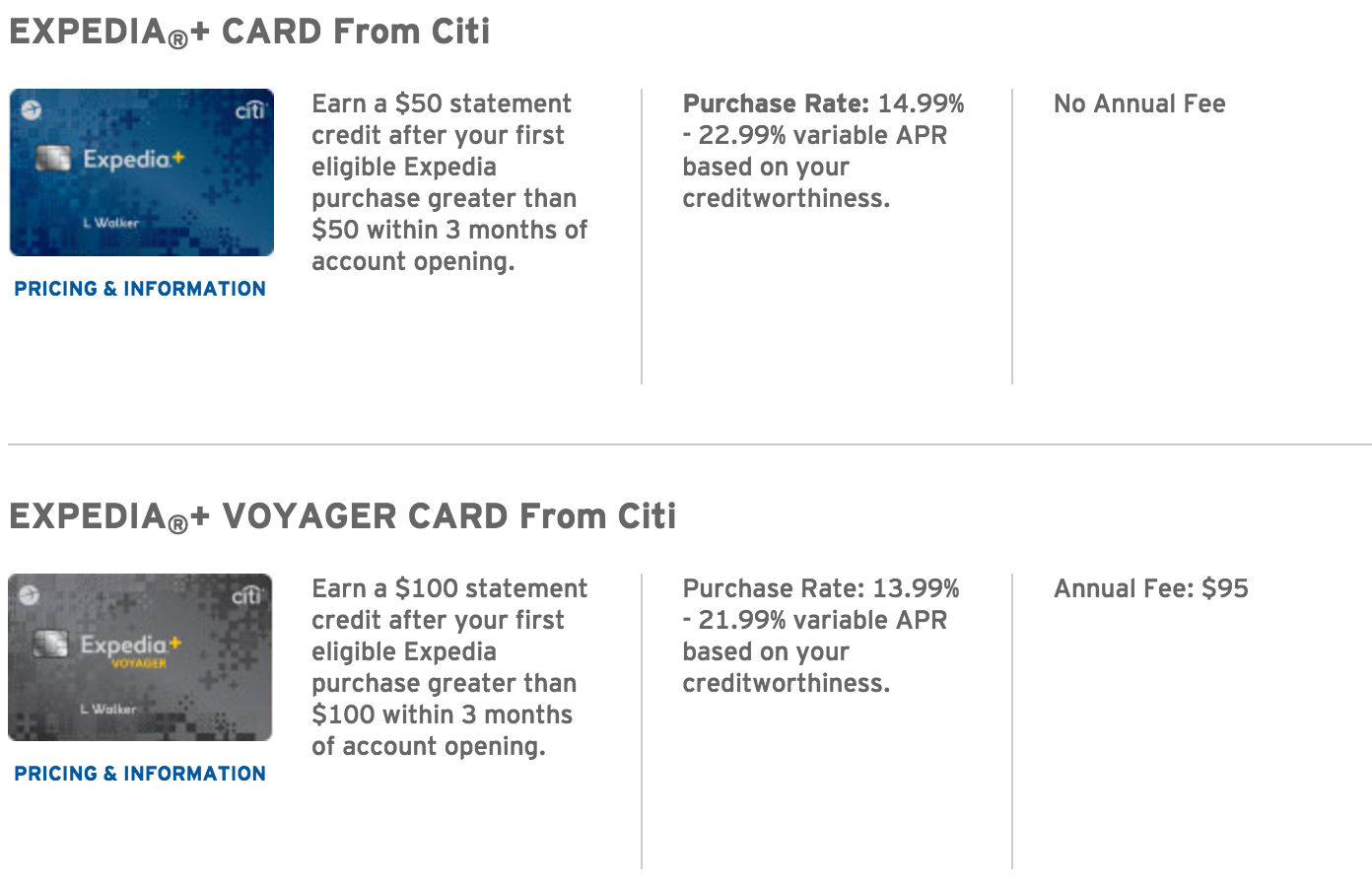 How to Apply for the Citi Expedia Credit Cards