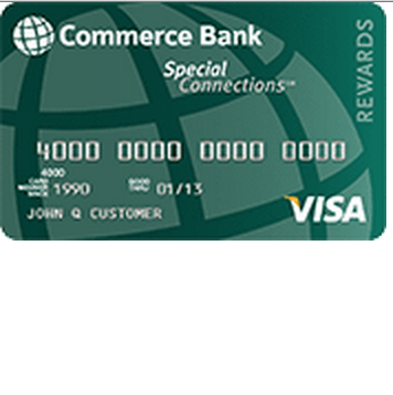 Commerce Bank Special Connections Visa Credit Card