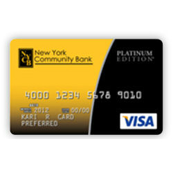 New York Community Bank Platinum Visa Credit Card
