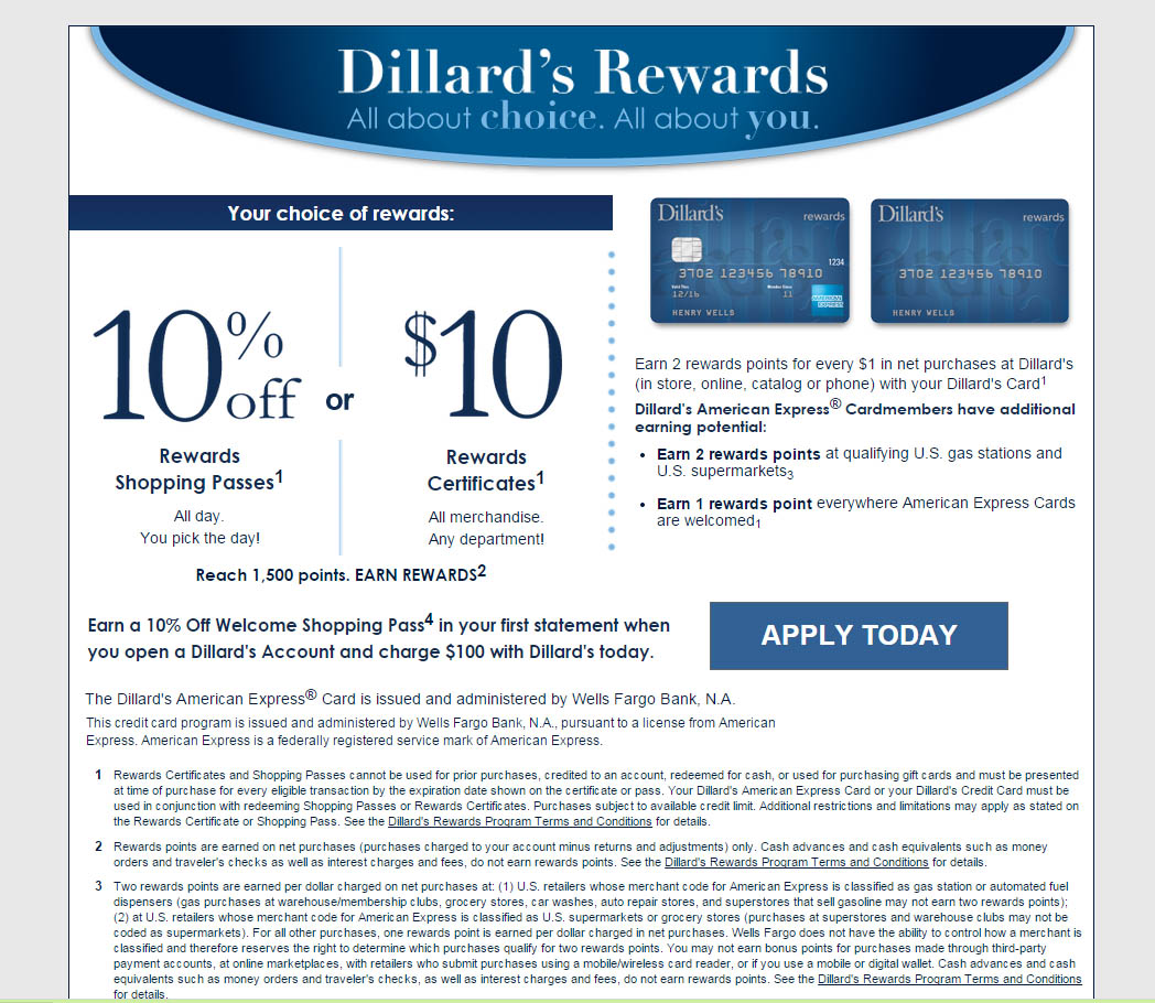 How To Apply For A Dillard's Credit Card