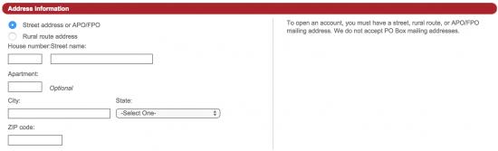 dressbarn-credit-card-online-application-address-information