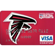 Atlanta Falcons Extra Points Credit Card