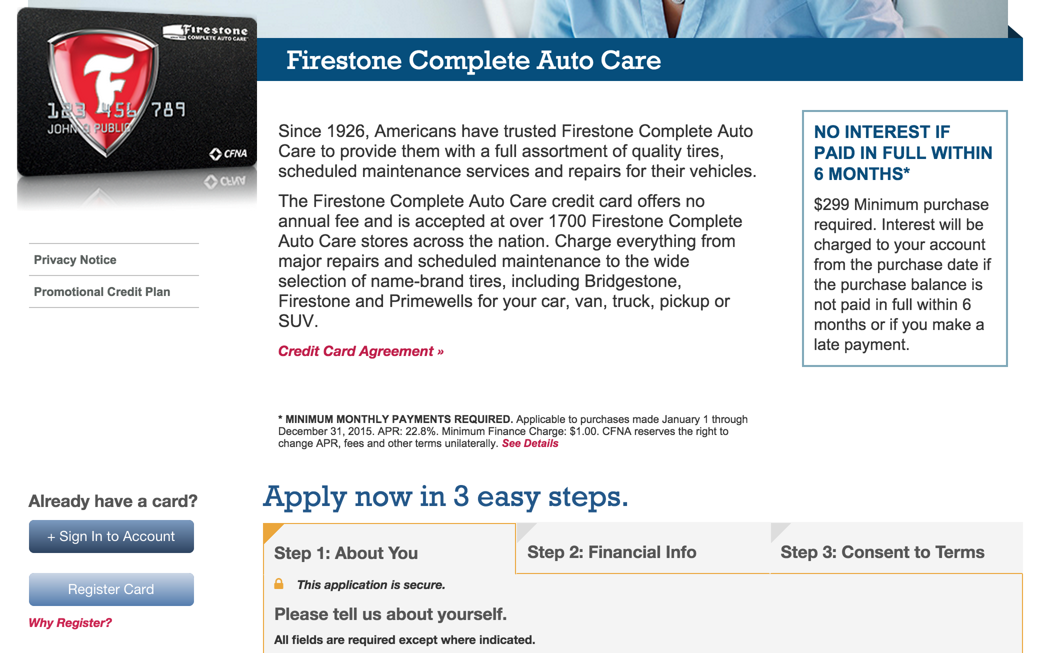 Firestone coupons credit card