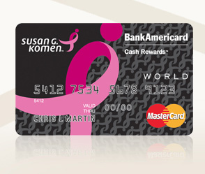How to Apply for a Susan G. Komen BankAmericard Credit Card