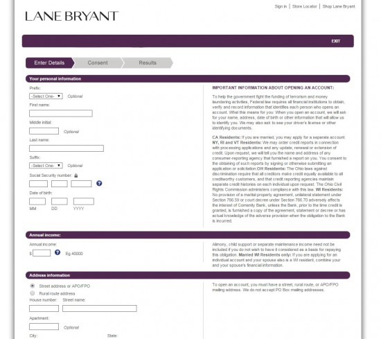 Lane Bryant Credit Card Login Pets World