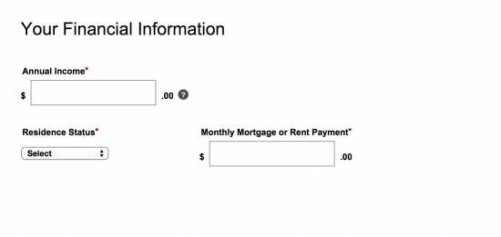 sears-financial-information-application-apply-page