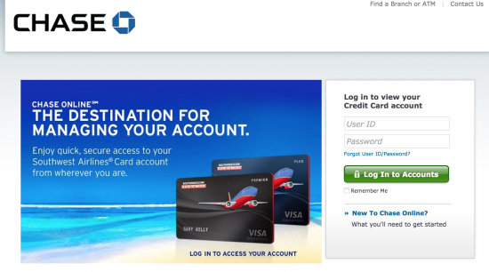 southwest-credit-card-login-page