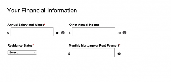 zales-credit-card-online-application-financial-information