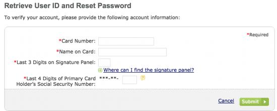 zales-credit-card-retrieve-user-id-passcode